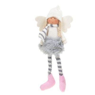Sugar Plum Angel Dangly Leg - grey tutu (311662)