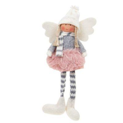 Sugar Plum Angel Dangly Leg - pink tutu (311662)