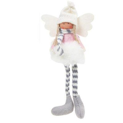 Sugar Plum Angel Dangly Leg - white tutu (311662)