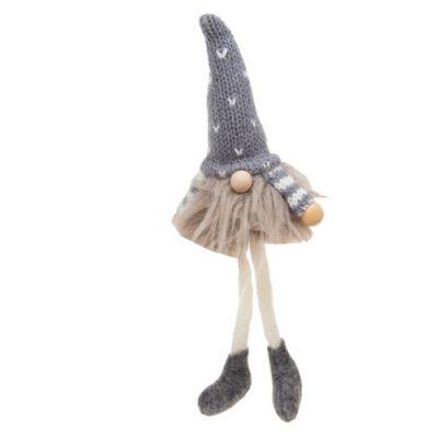 Nordic Furry Gonk Dangle Leg Small- grey (311674)