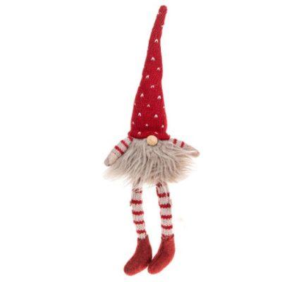 Nordic Furry Gonk Dangle Leg Medium - Red (311675)